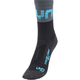 UYN Cycling Light Socks Herre black/grey/indigo bunting